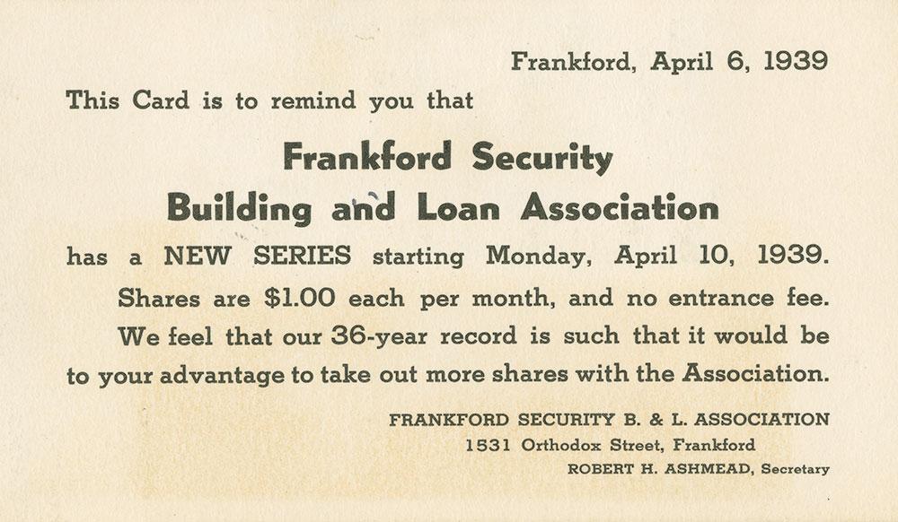 Frankford Security card