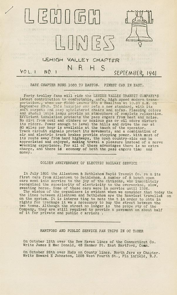 Lehigh Lines NRHS