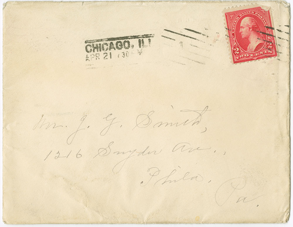 Letter Cancelled by Trolley Car (envelope)