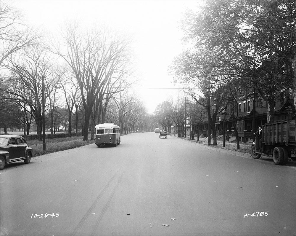 Street scene with PTC route 61 bus