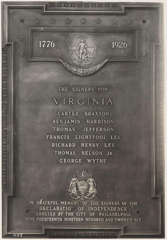 Sesqui-Centennial State Plaque #6