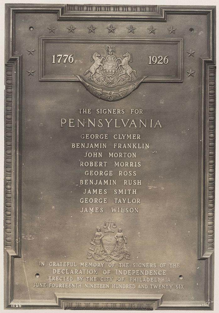 Sesqui-Centennial State Plaque #7