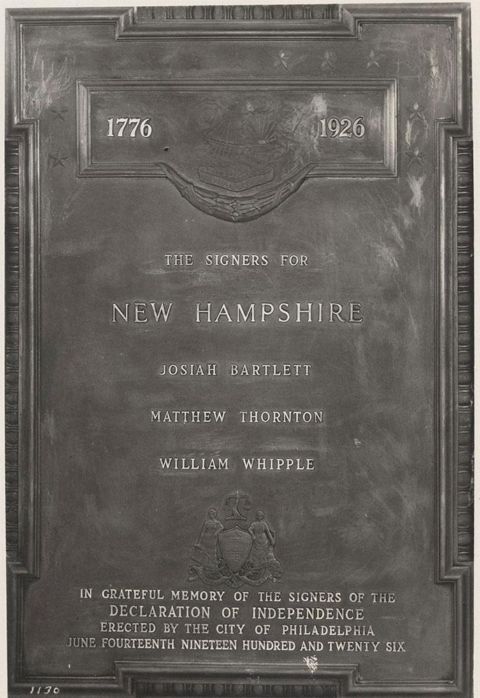 Sesqui-Centennial State Plaque #11