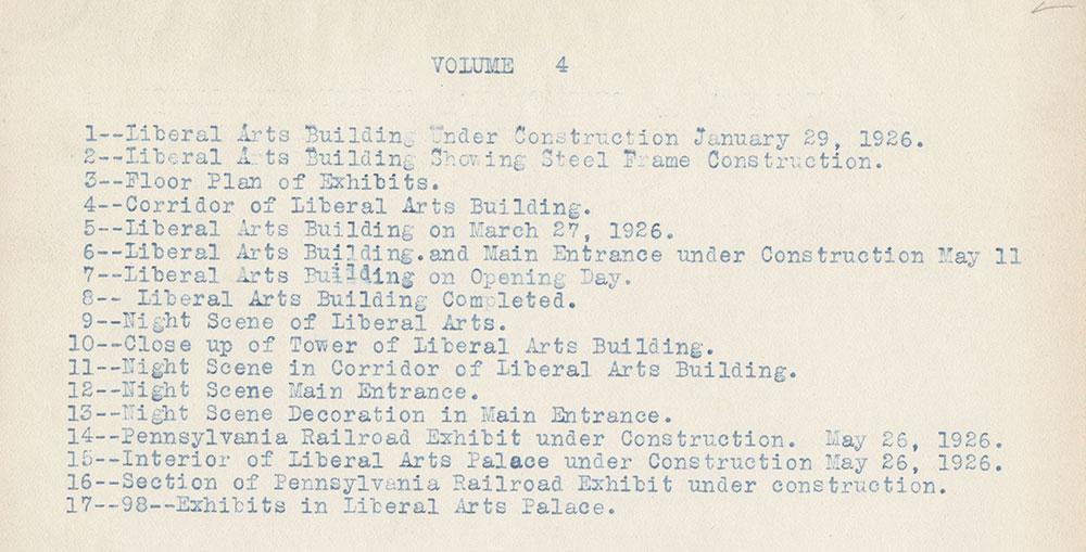 Sesqui-Centennial Volume #4 Index