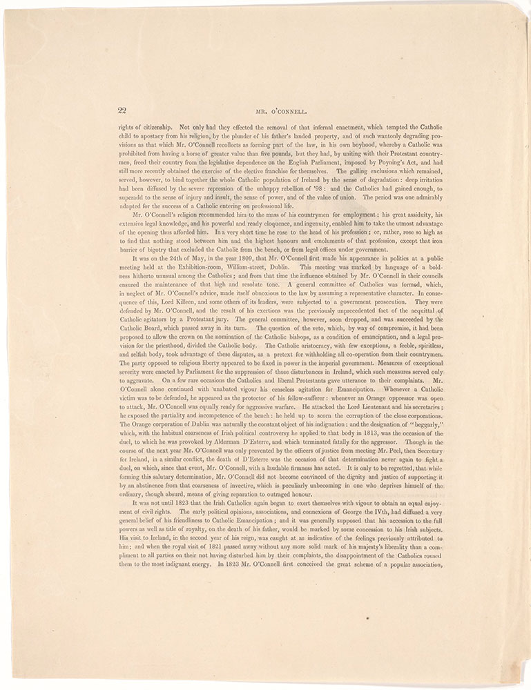 Mr. O'Connell unidentified text page 2