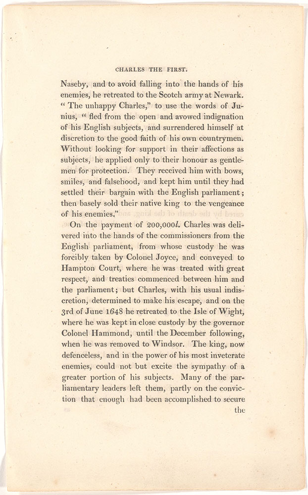 Charles The First, King of England unidentified text page 5