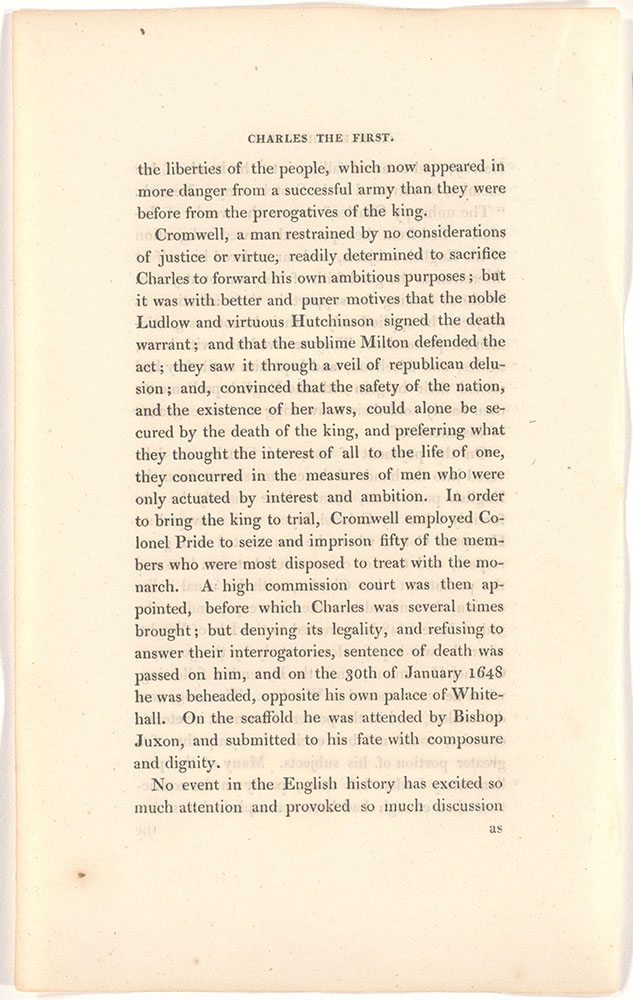 Charles The First, King of England unidentified text page 6