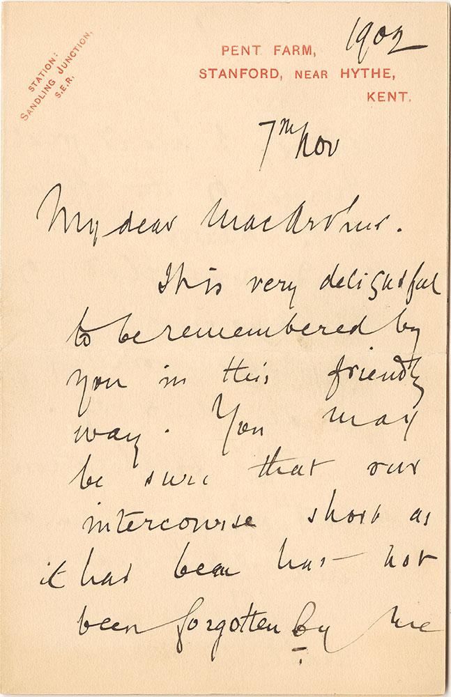 ALs to James MacArthur