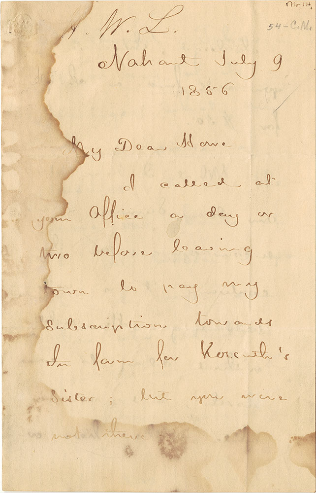 ALs to Samuel Gridley Howe, page 1