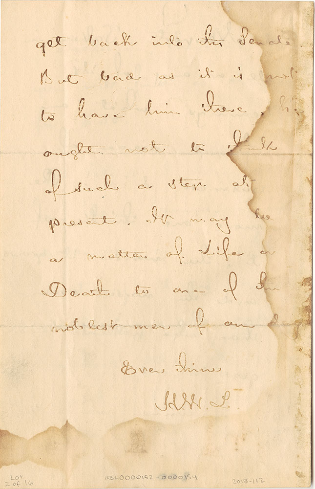 ALs to Samuel Gridley Howe, page 4