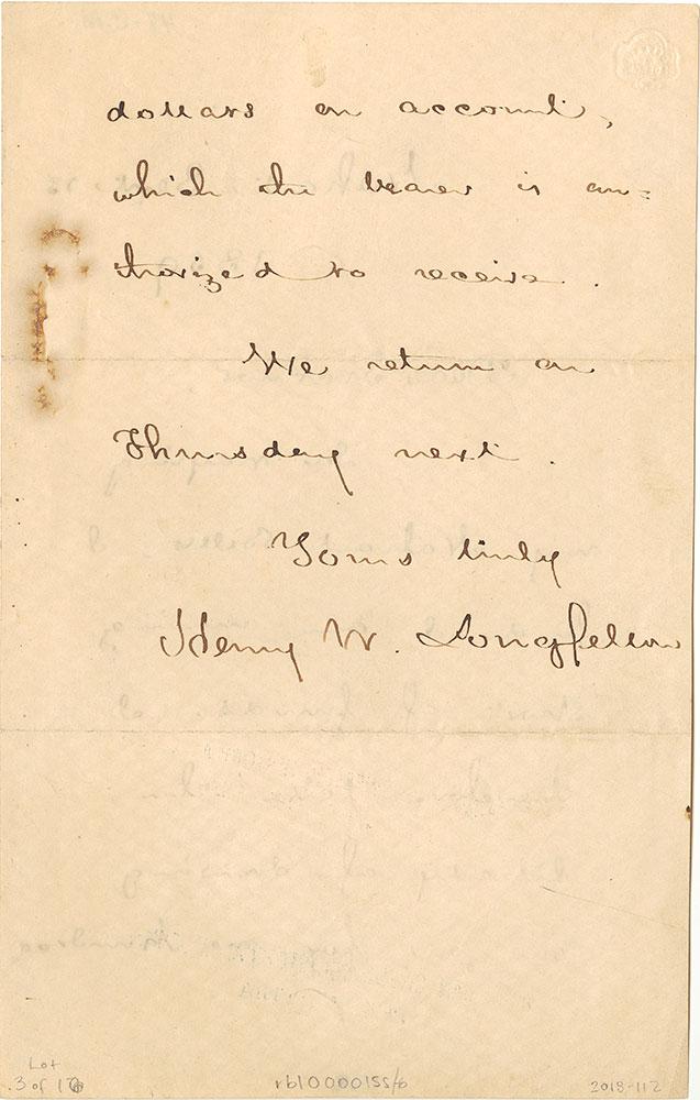 ALs to William Ticknor, page 2