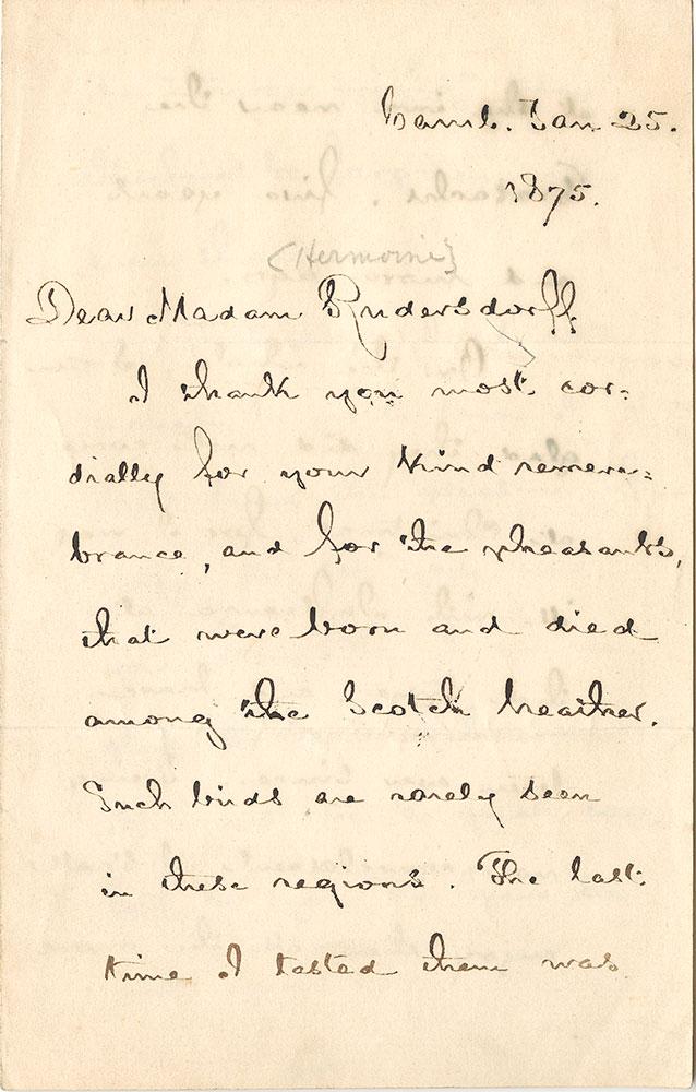 ALs to Hermine Rudersdorff, page 1