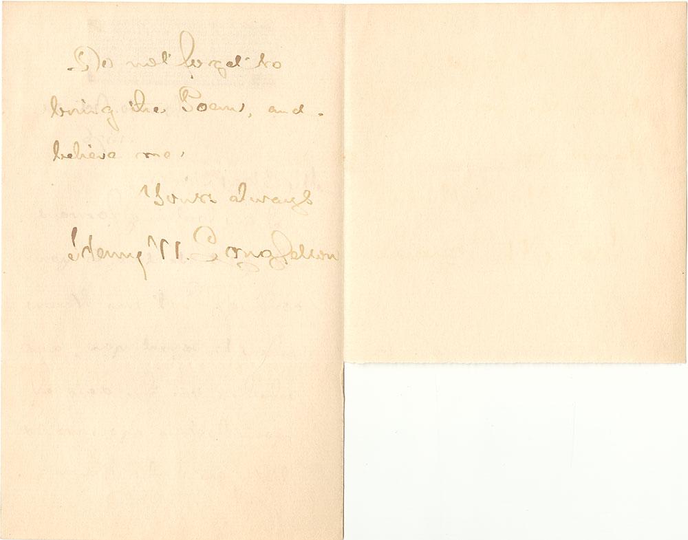 ALs to Bayard Taylor, page 2