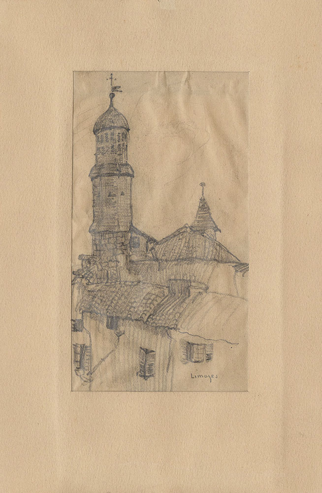 Sketch of roofs in Limoges