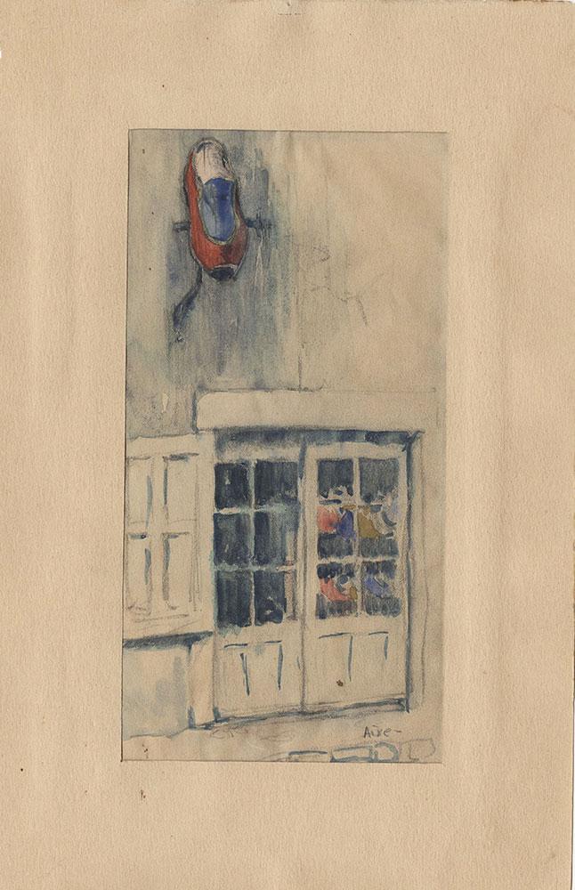 Sketch of a shop in Aixe
