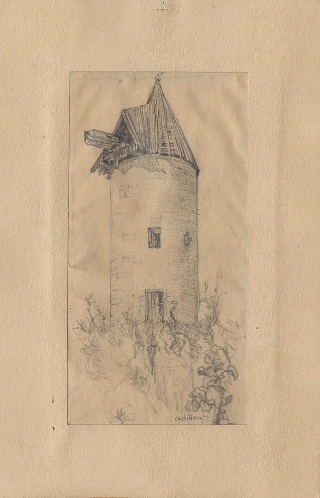 Sketch of a grain silo in Castillon
