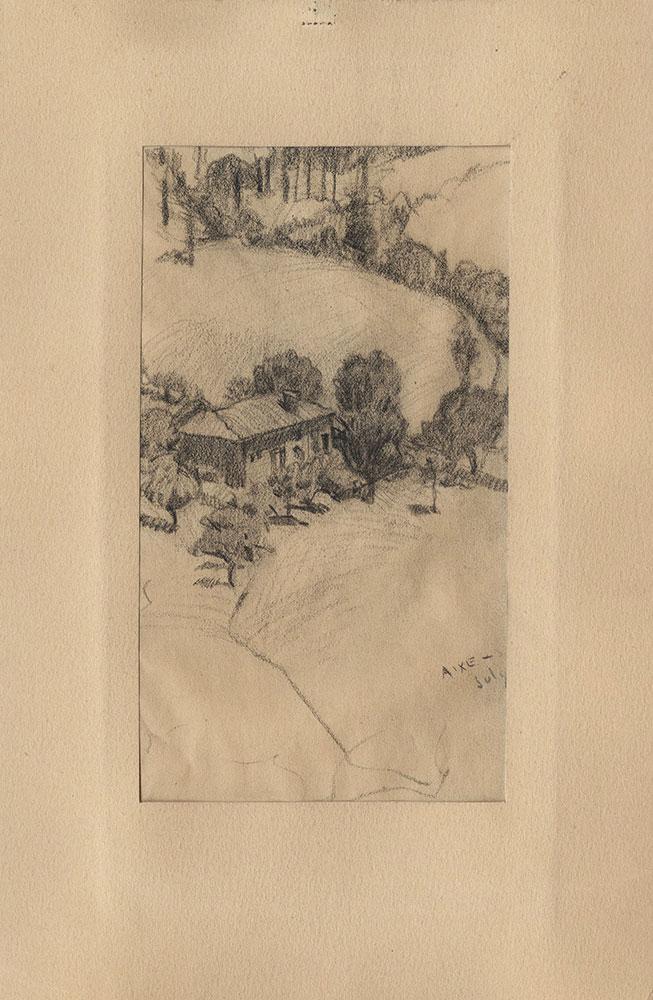 Sketch of Aixe landscape