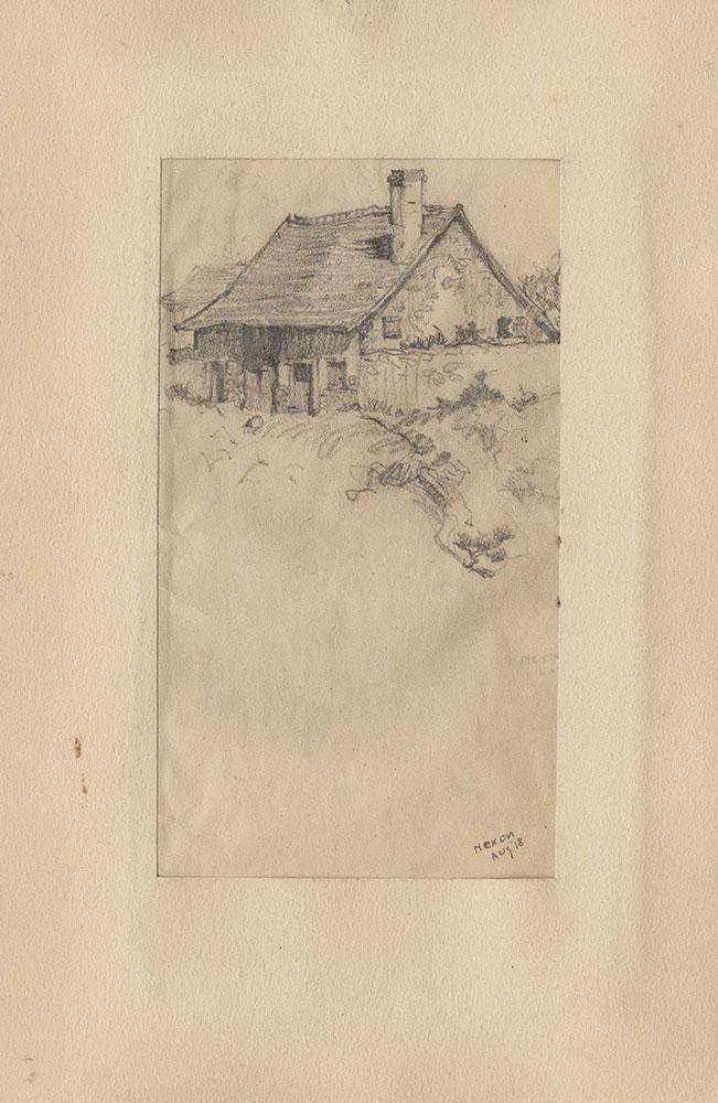Sketch of a farmhouse in Nexon