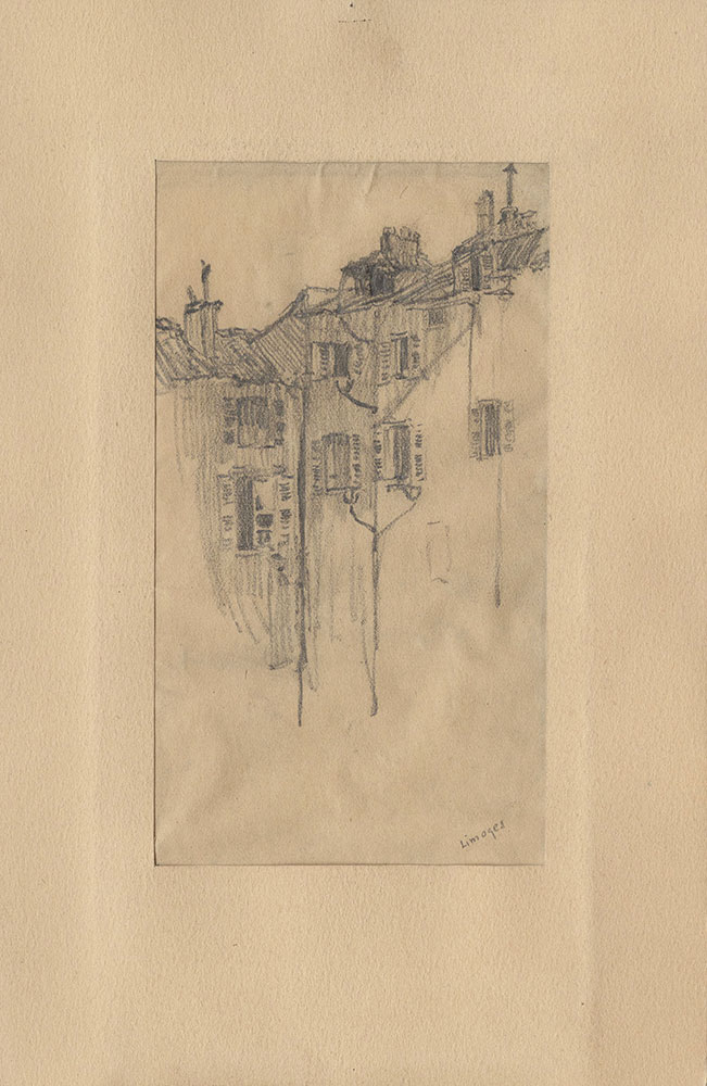 Sketch of buildings in Limoges