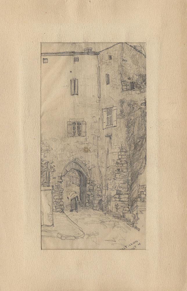Sketch of a village road