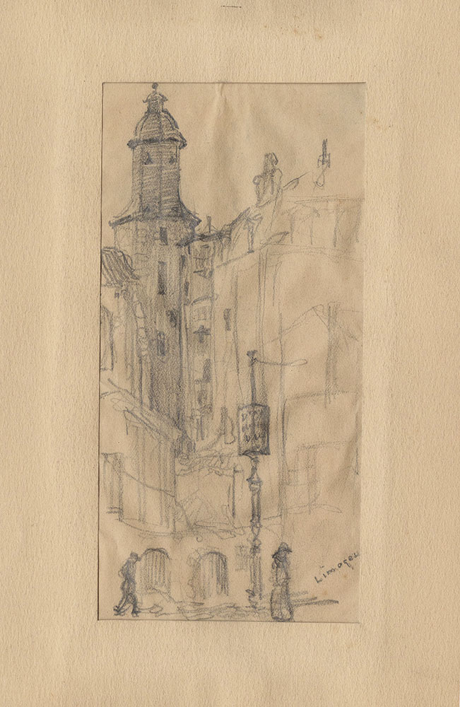 Sketch of the town of Aixe