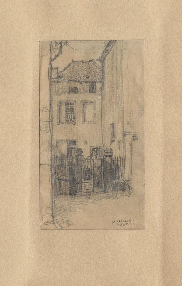 Sketch of a house in Saint-Leonard