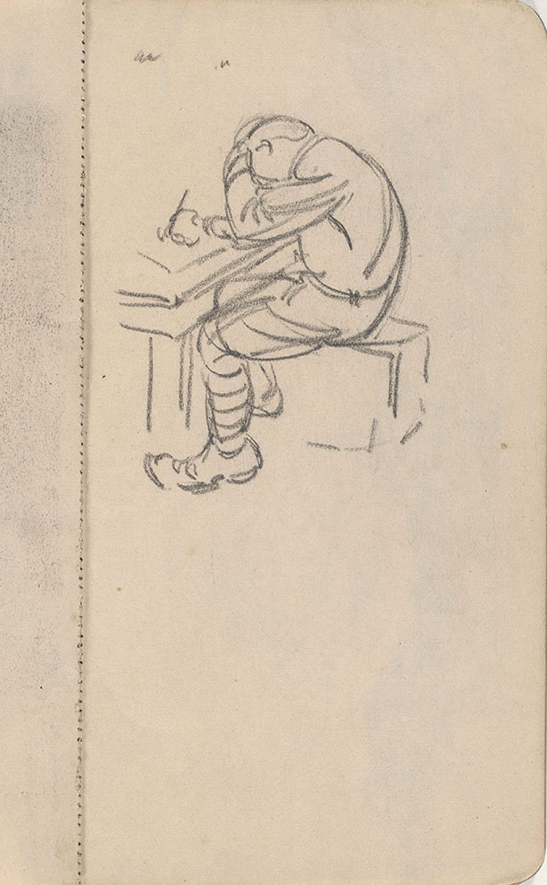 Sketchbook from Robert Lawson's WWI deployment in France, page 5