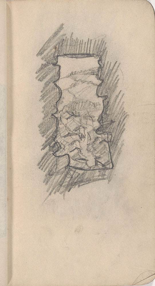Sketchbook from Robert Lawson's WWI deployment in France, page 25