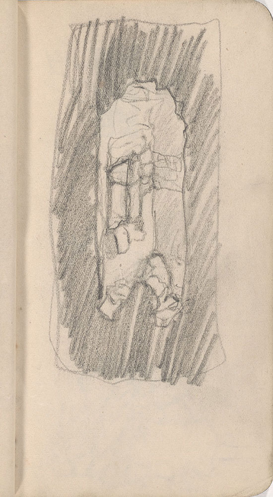 Sketchbook from Robert Lawson's WWI deployment in France, page 27