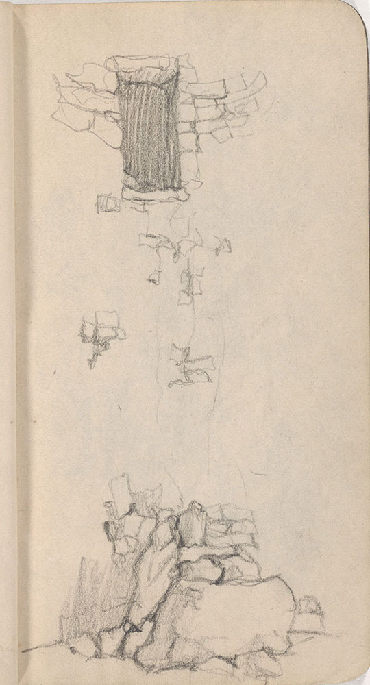 Sketchbook from Robert Lawson's WWI deployment in France, page 29