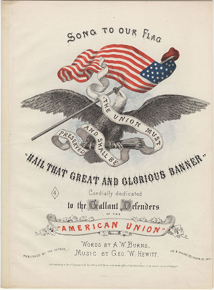 Hail that great and glorious banner : Title Page