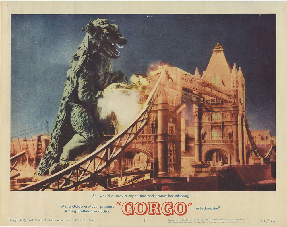 Lobby Card for Gorgo