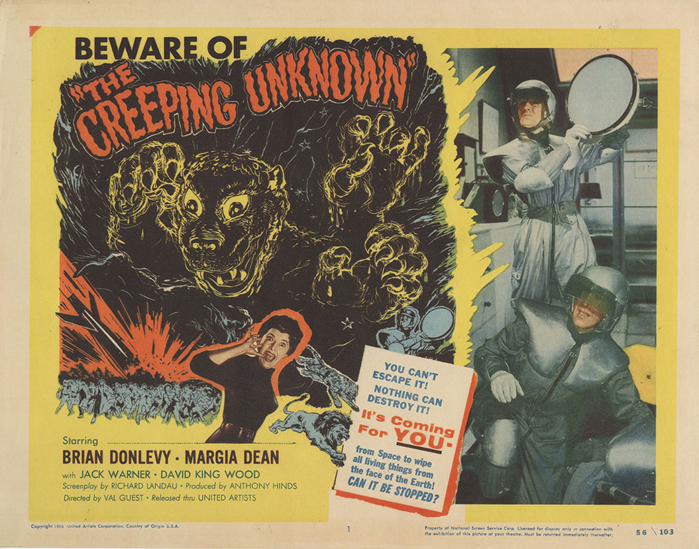 Lobby Card for The Creeping Unknown