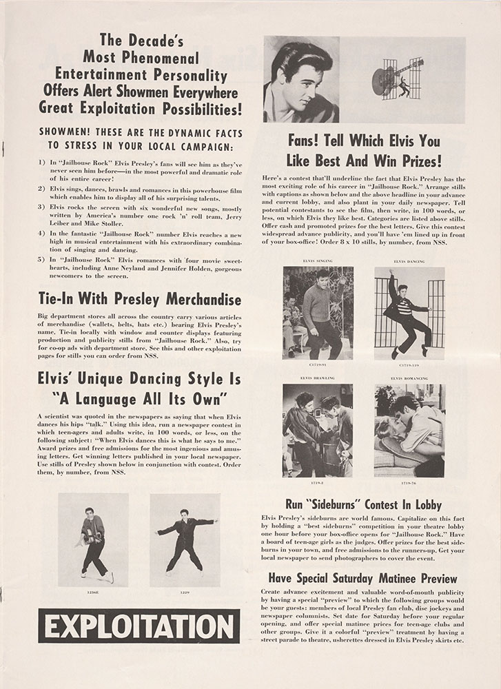 Press Book for Jailhouse Rock