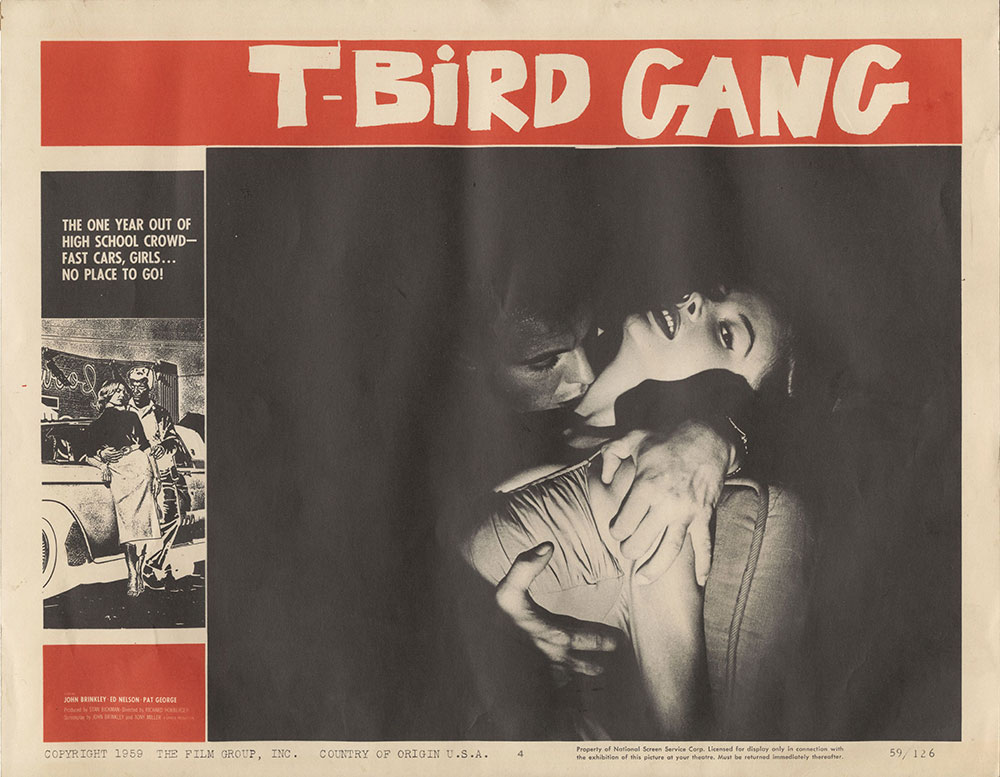 Lobby Card for T-Bird Gang