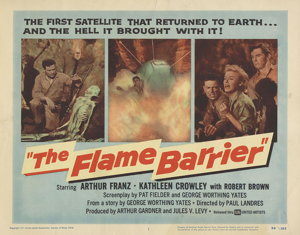 Lobby Card for The Flame Barrier