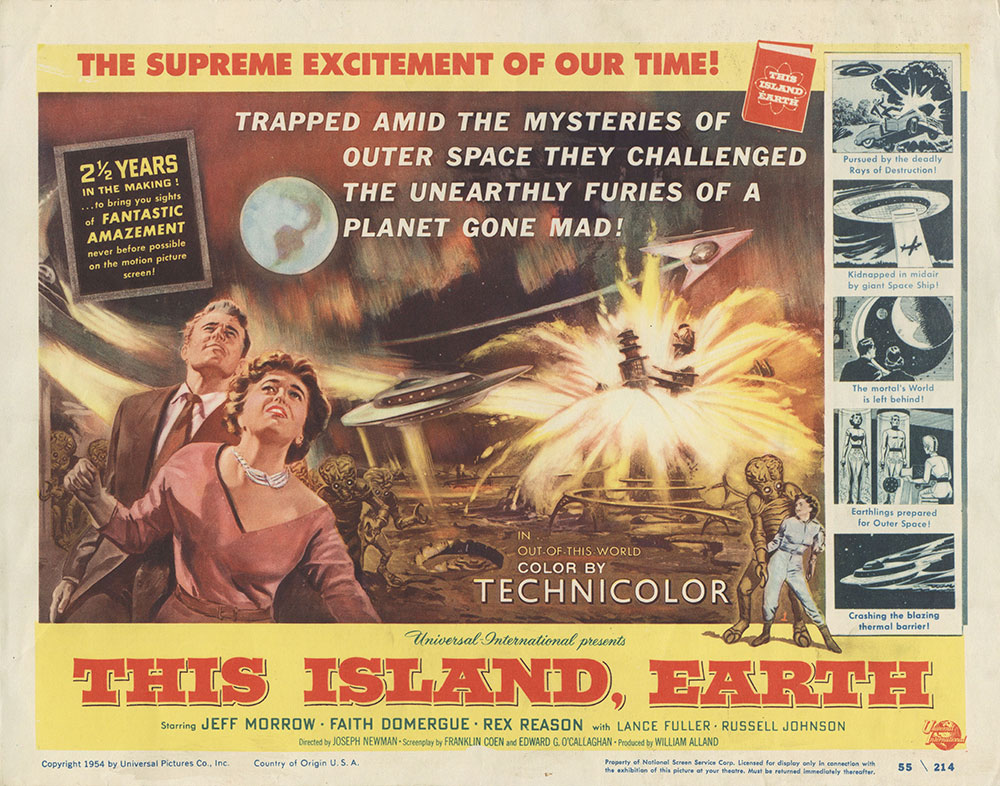 Lobby Card for This Island, Earth