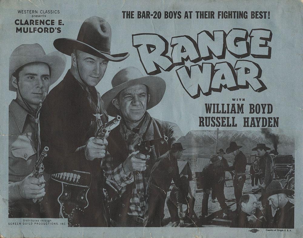 Lobby Card for Range War