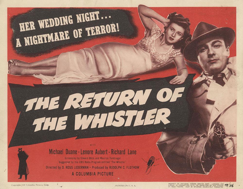 Lobby Card for The Return of the Whistler