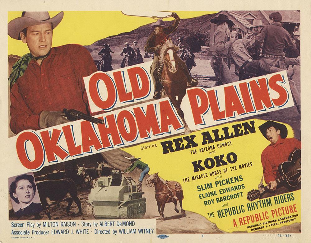 Lobby Card for Old Oklahoma Plains