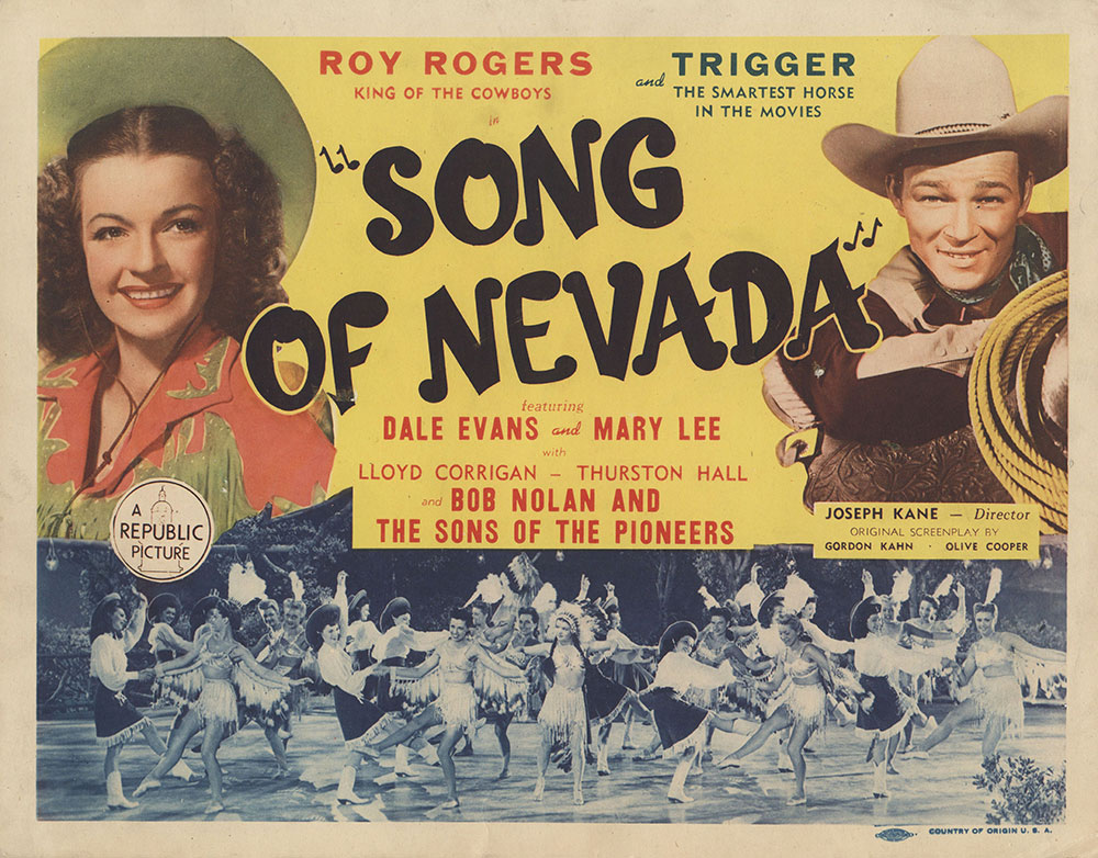 Lobby Card for Song of Nevada
