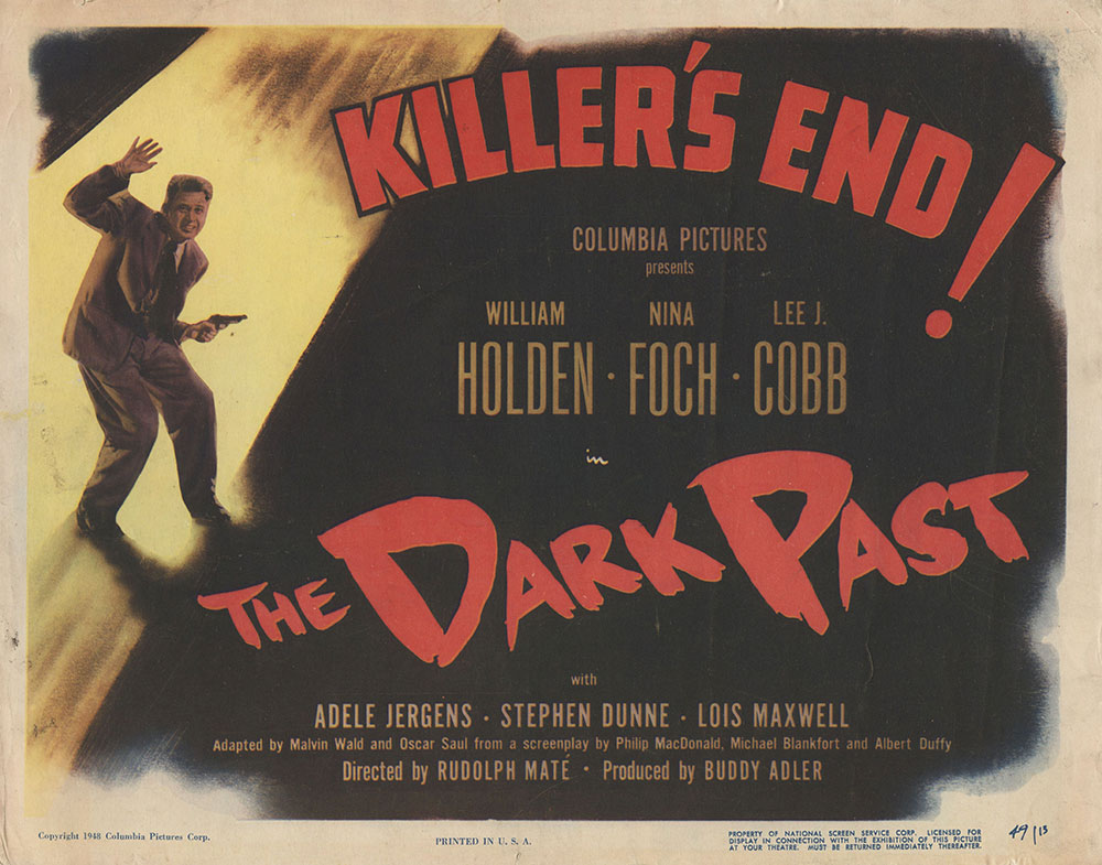 Lobby Card for The Dark Past
