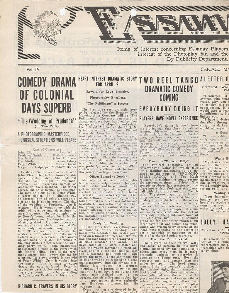 Fragment of Essanay News