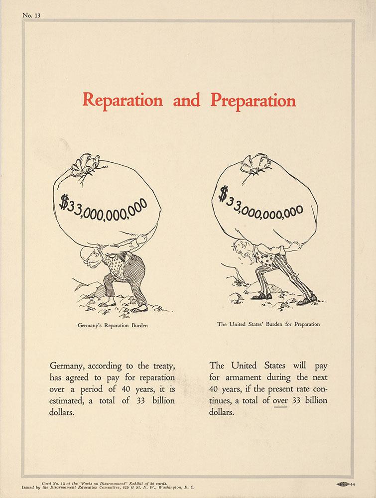 Reparation and Preparation, No. 13