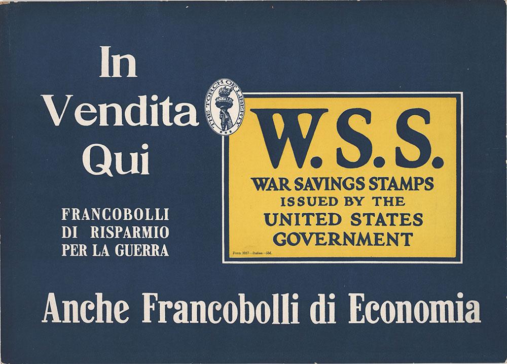 W.S.S.: War Savings Stamps (Italian)