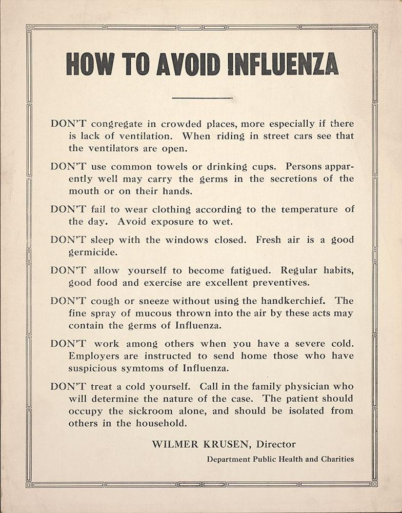 How to Avoid Influenza