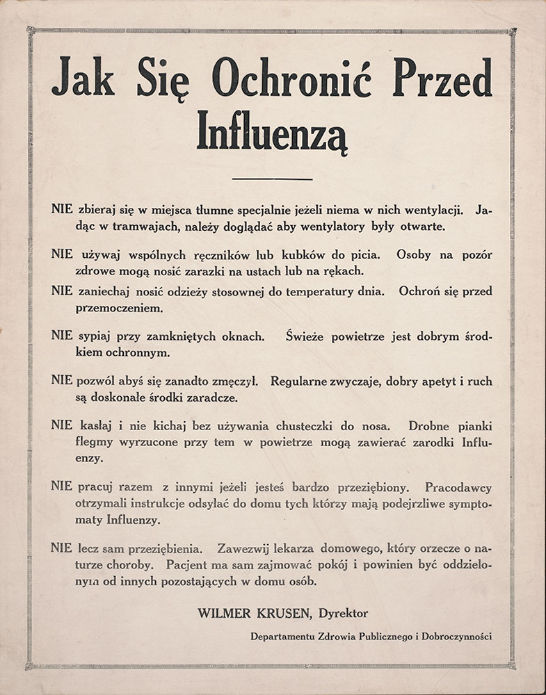 How to Avoid Influenza (in Polish)